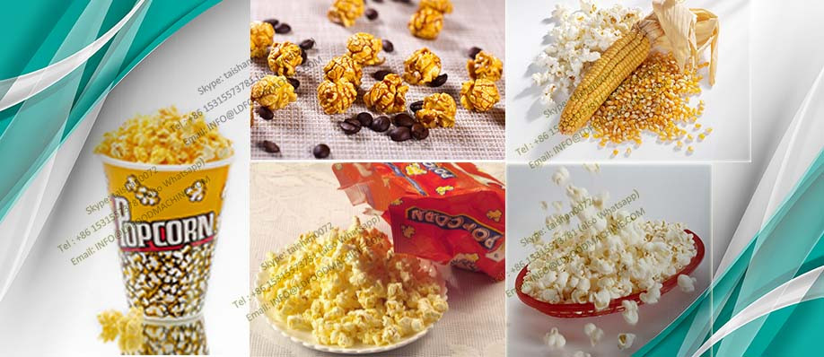 commercial caramel industrial continues popcorn machinery make price 40-300kgs/h