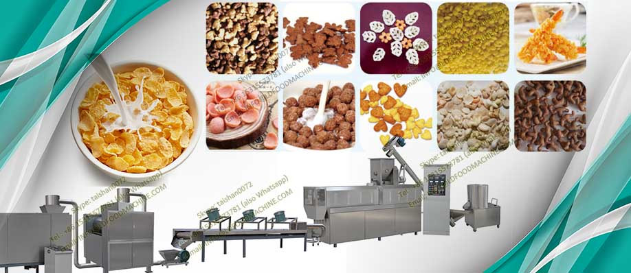 The sugar coated corn flakes processing line