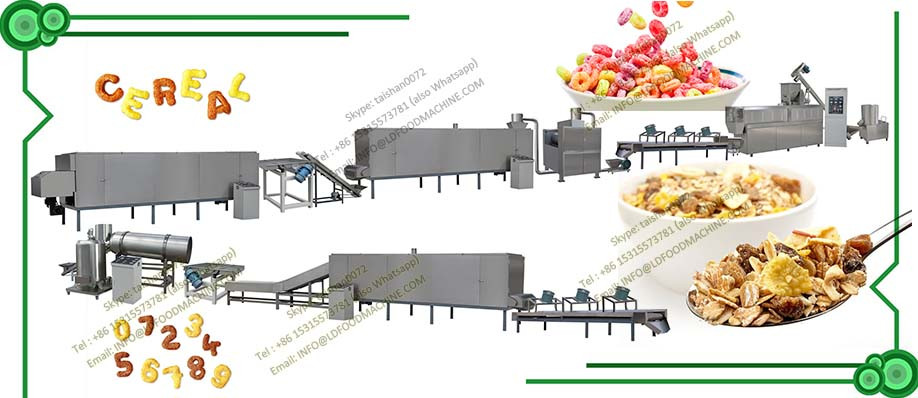 High quality Extruded crisp Sweet Corn Flakes Snack machinery